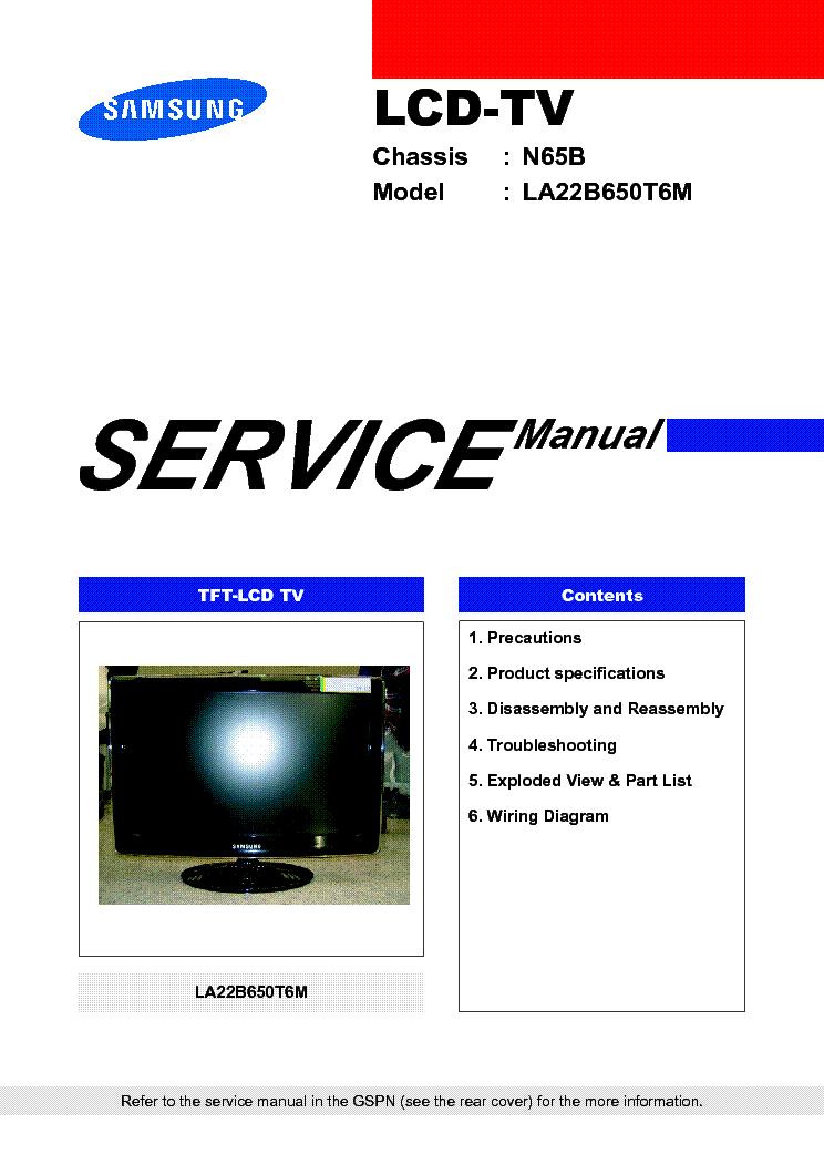 samsung ps42b450b1w ps50b450b1w plasma tv service manual