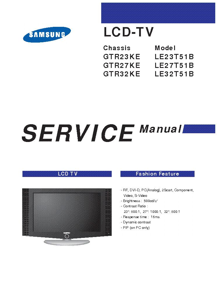 samsung le37s86bdx ch gja37sev service manual download schematics rh elektrotanya com manual tv samsung lcd 46 manual tv samsung lcd 550