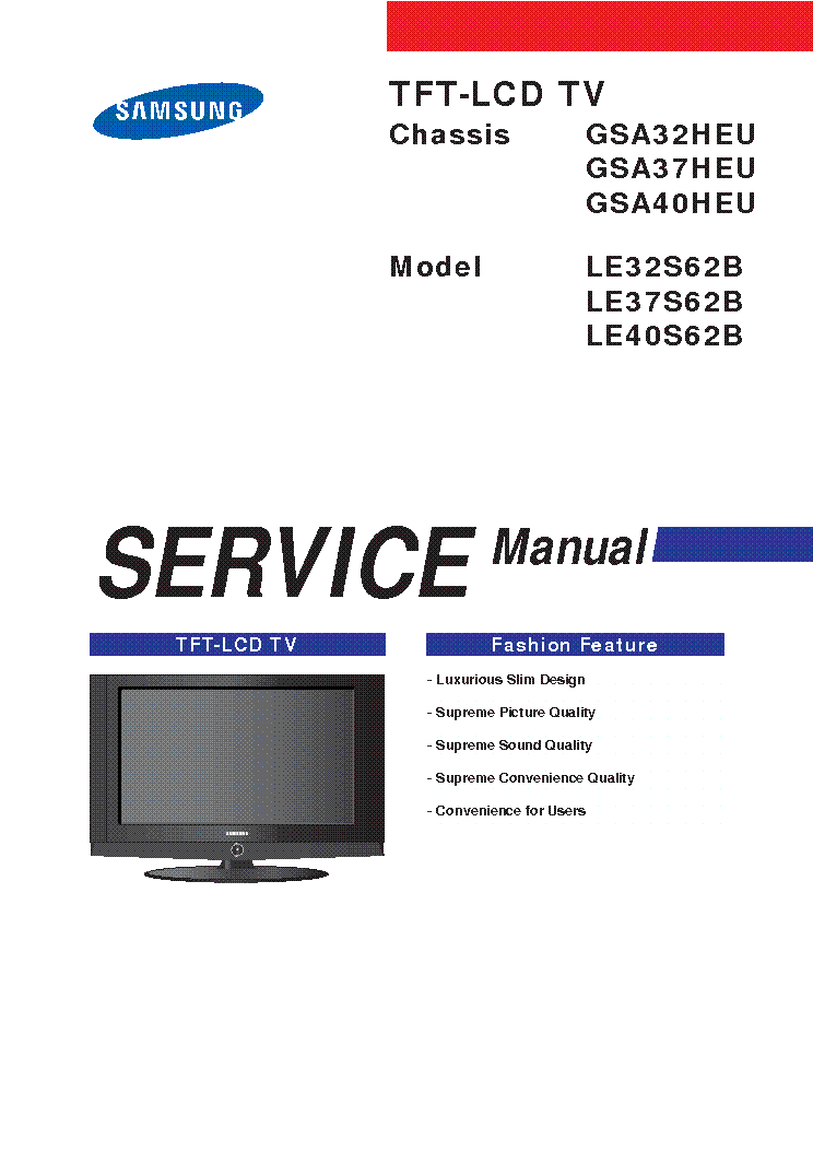 samsung le32s62b tv service manual download