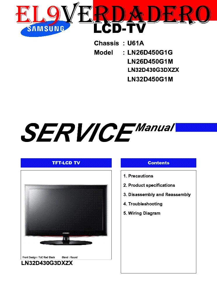 samsung ln26d450g1g ln26d450g1m ln32d430g3dxzx ln32d450g1m chassis rh elektrotanya com samsung f450 manual samsung k450 manual