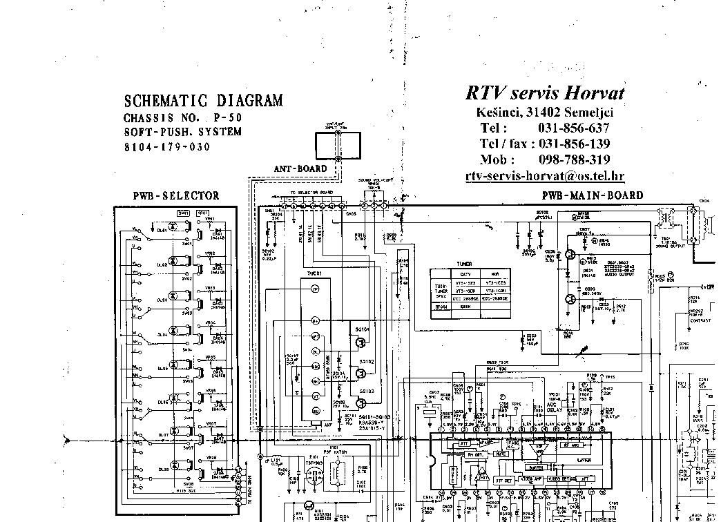 Схема телевизора Samsung CHASSIS P50.