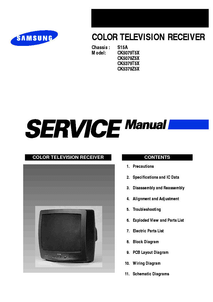 SAMSUNG S15A service manual