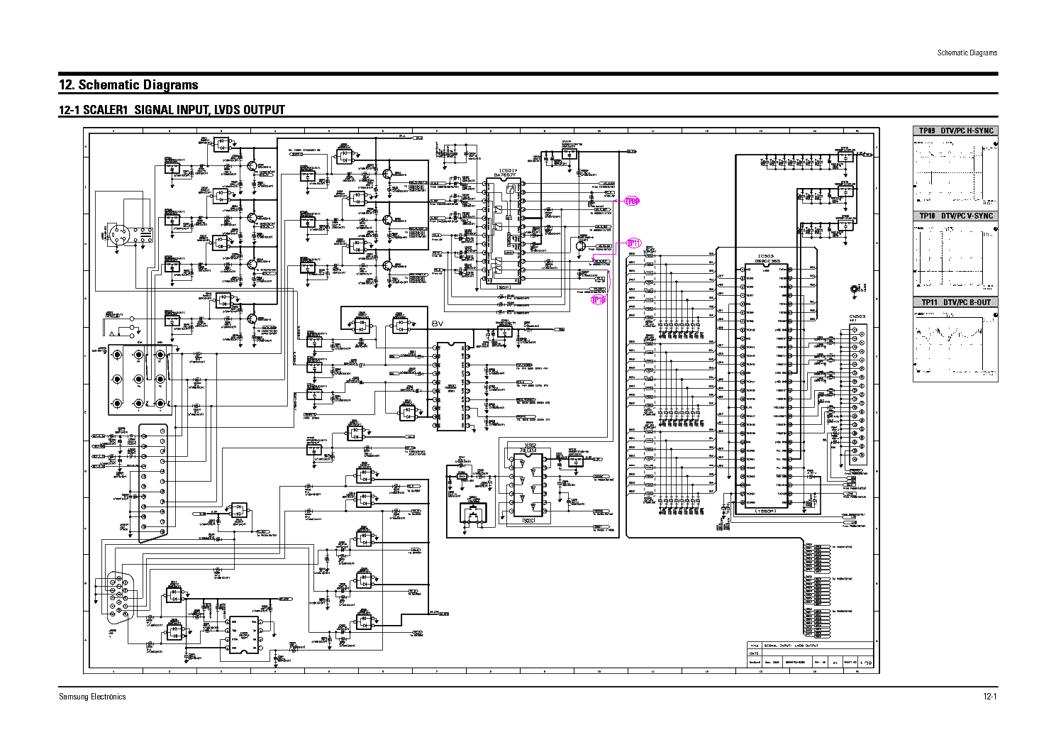 samsung hdtv schematics diagram