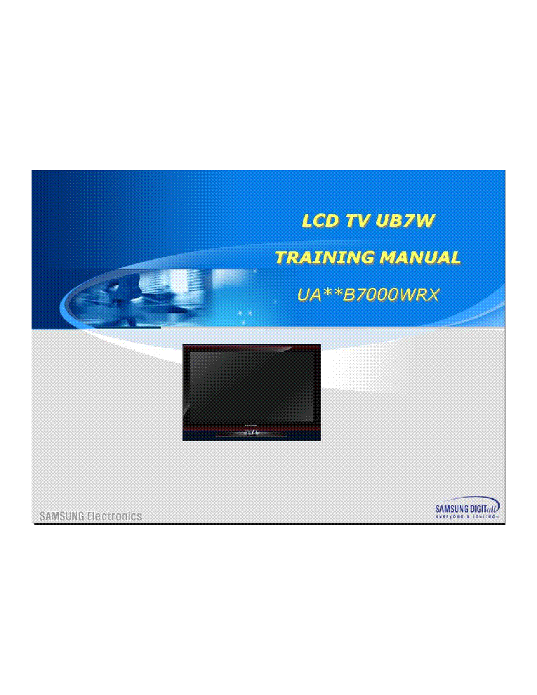 samsung lcd tv service manual free download