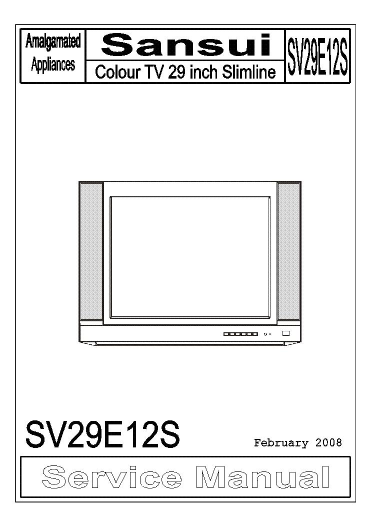 sansui sv29e12s service manual download schematics eeprom repair rh elektrotanya com