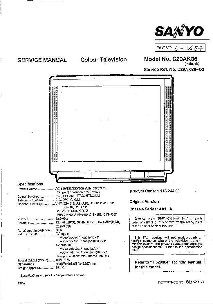 sanyo ds24425 service manual download schematics eeprom repair rh elektrotanya com Makers Service Repair Manual Manufacturers Auto Repair Service Manuals