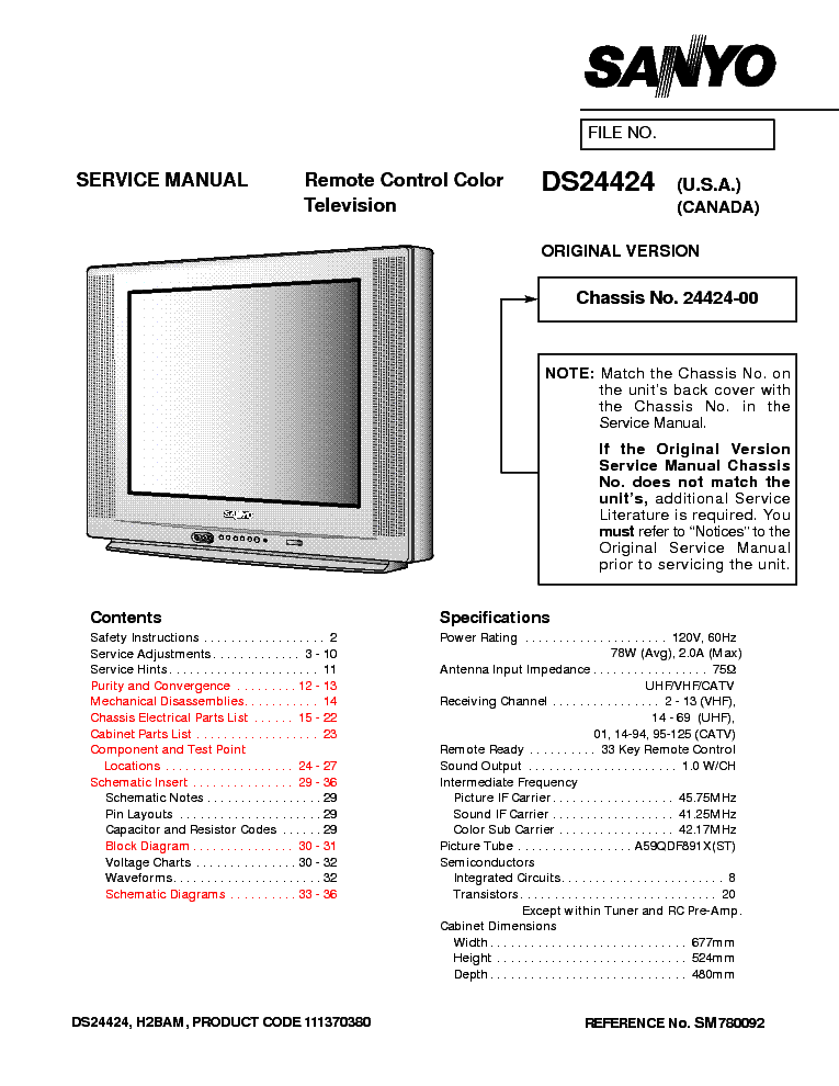 sanyo ce32fwa5 eb9a service manual download schematics eeprom rh elektrotanya com Service Repair Manuals Online GM Service Repair Manuals