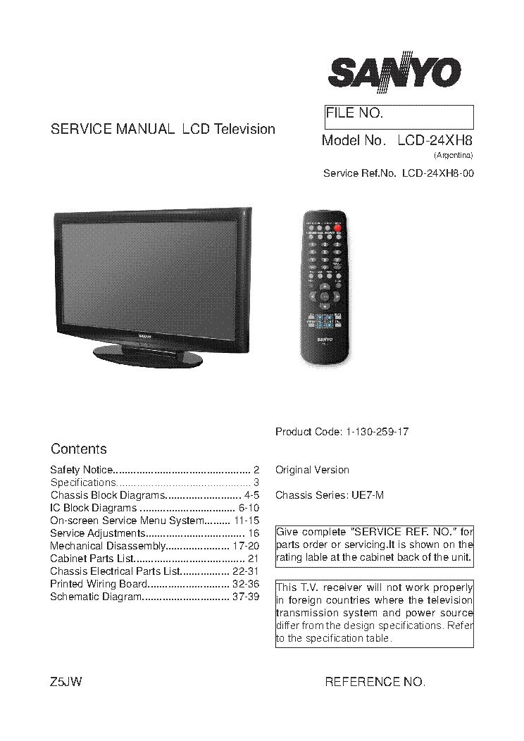 SANYO DP32649 CH P32649-05 Service Manual download