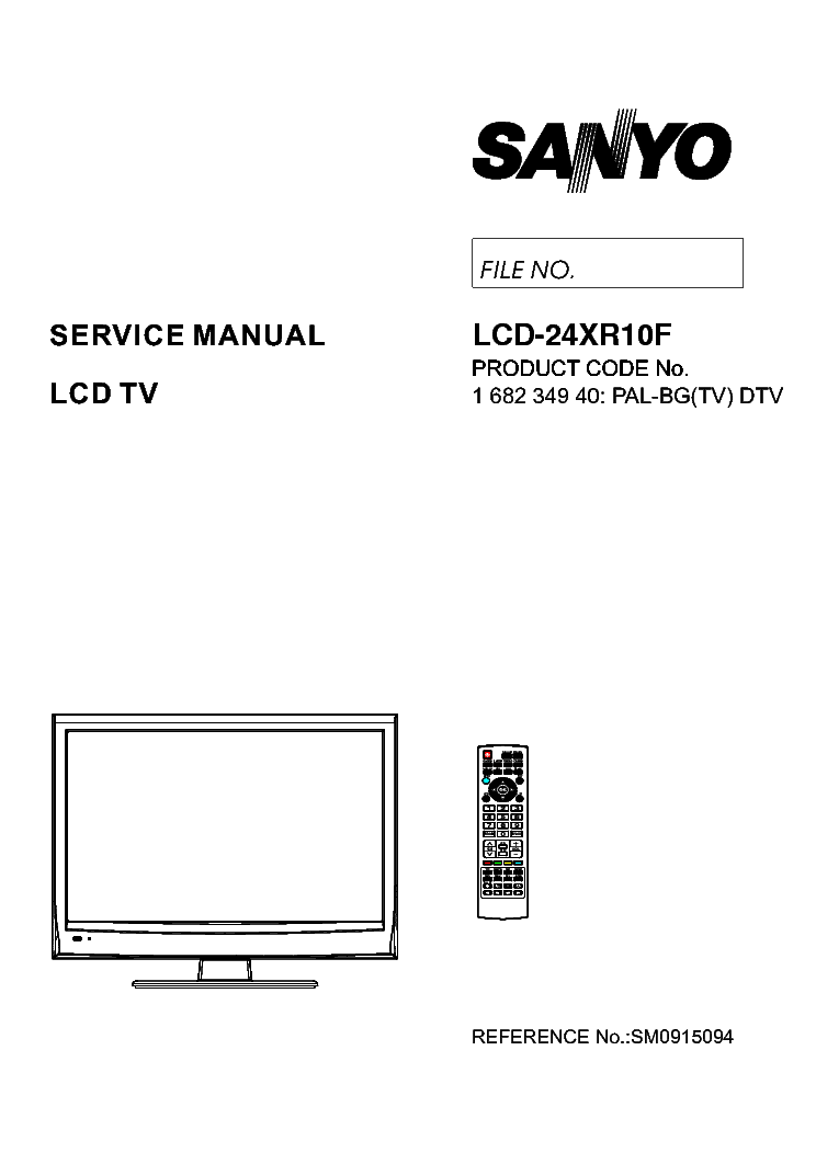 SANYO LCD-24XR10F service manual