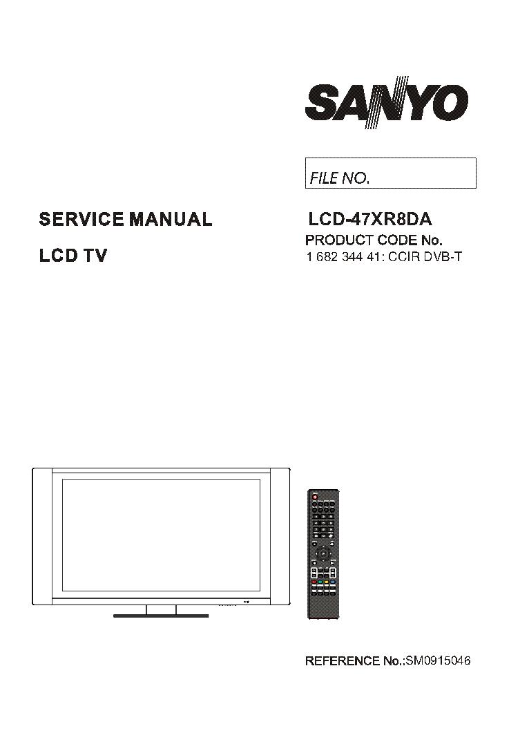 Lcd sanyo manual