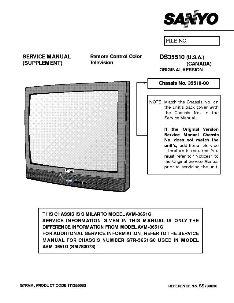 Sanyo Tv Manual