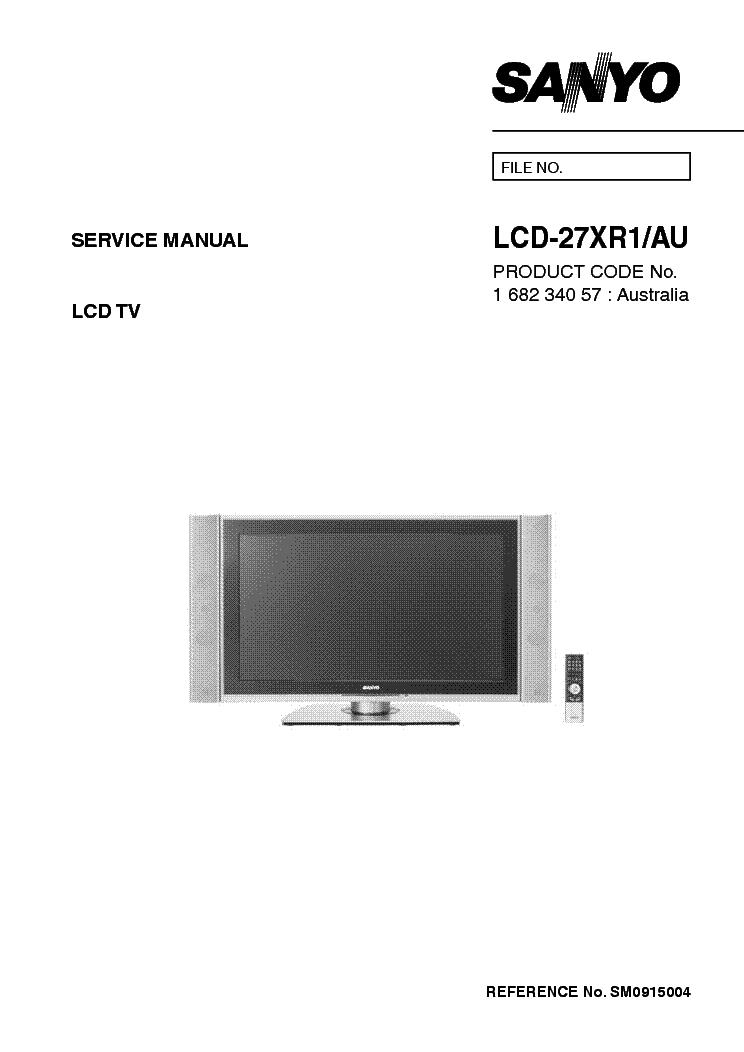 Lcd Tv Repair: Sanyo Lcd Tv Repair