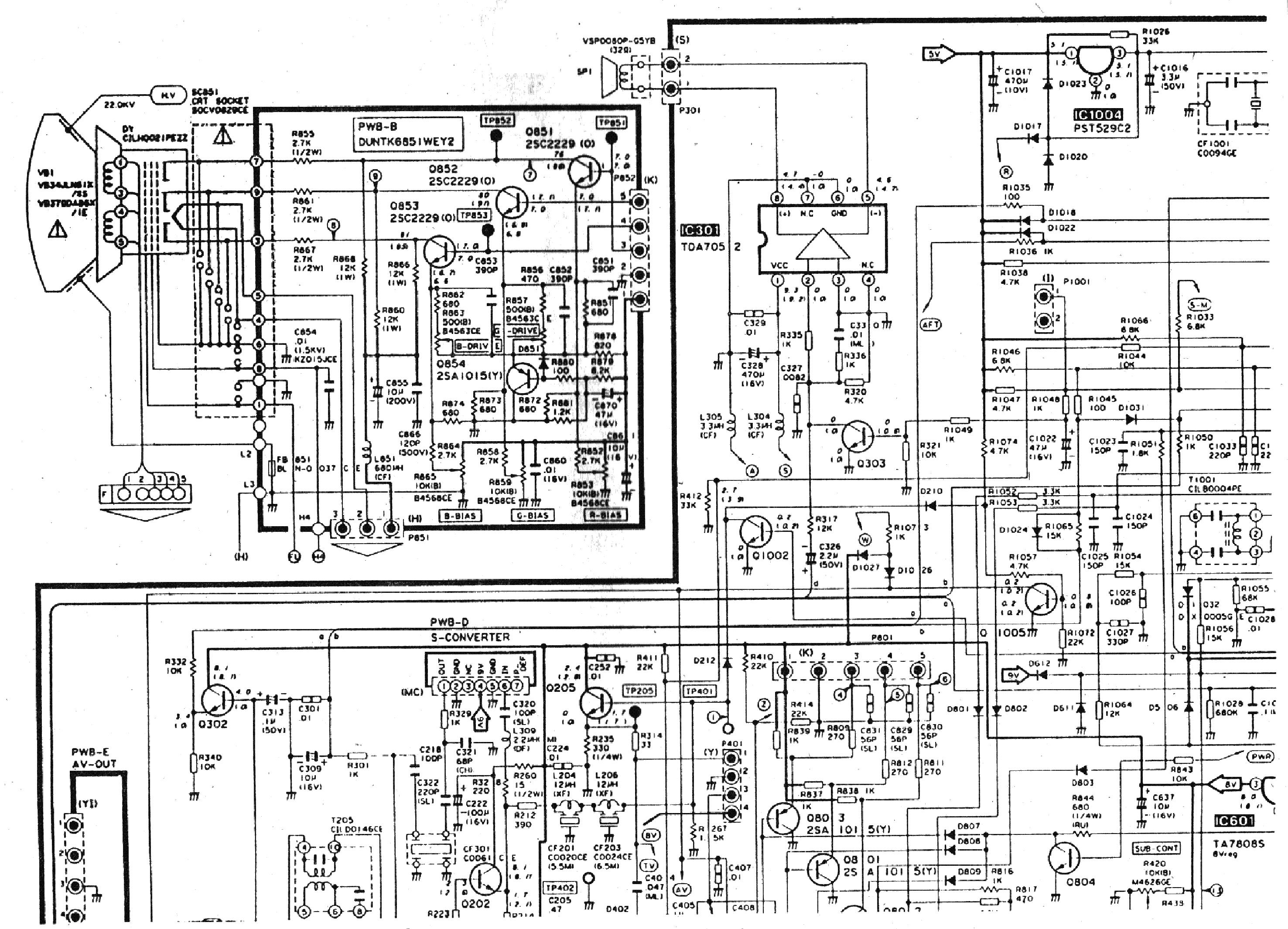 Sharp 14b sc схема