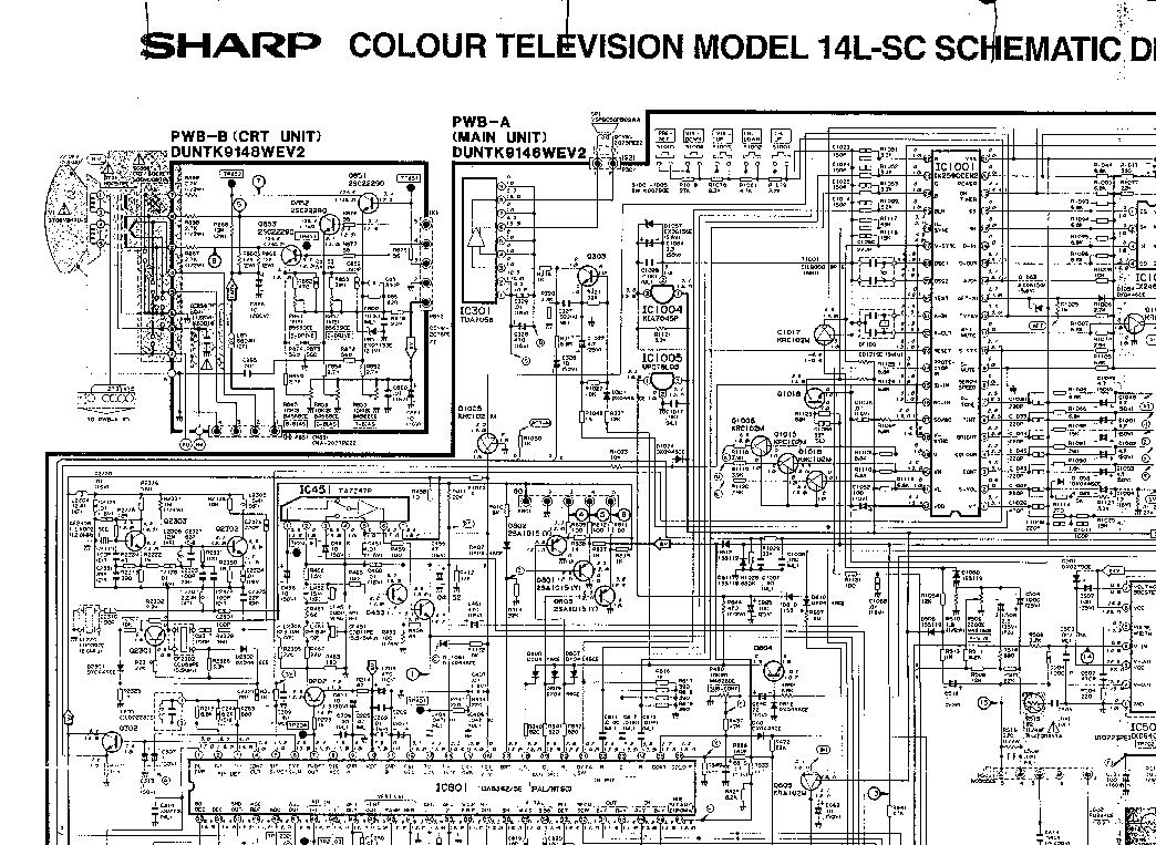 Sharp 14l sc схема