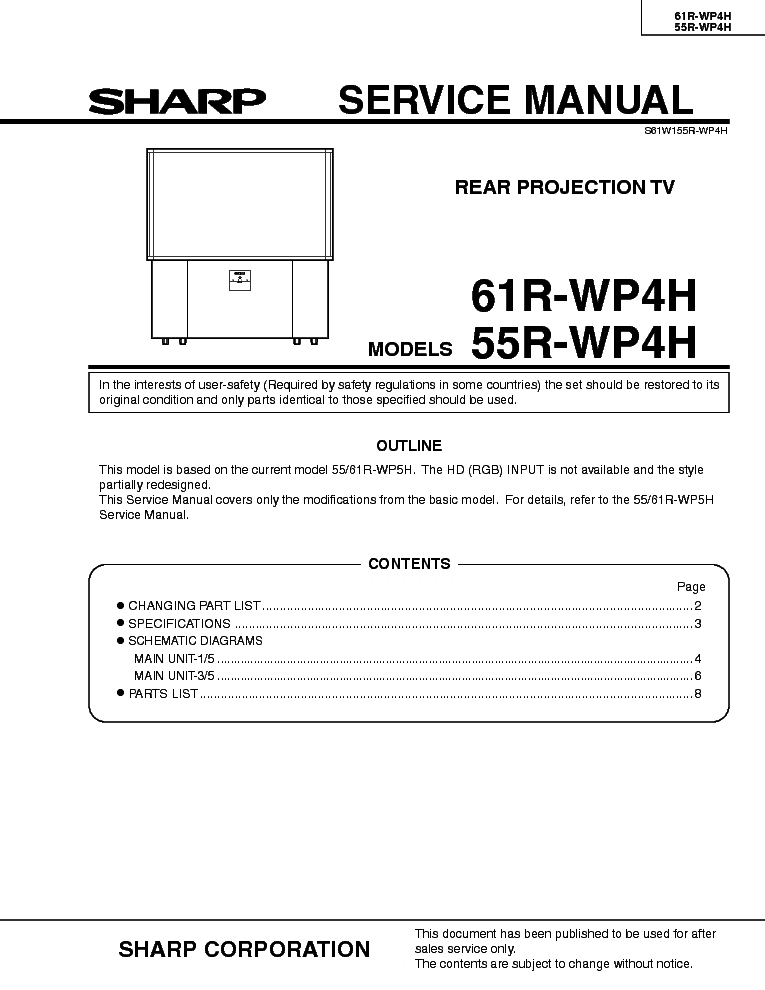 Sharp Aquos Lc32 40 46 52le700un Service Manual Download  Schematics  Eeprom  Repair Info For