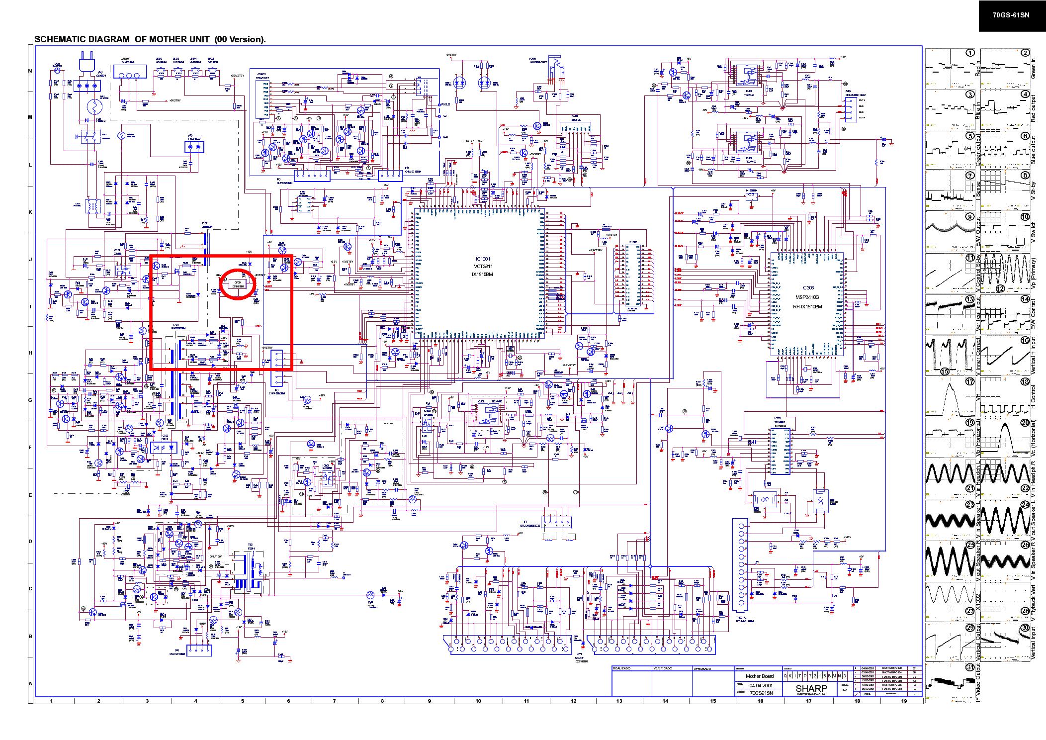 Схема телевизора sharp 25uf1