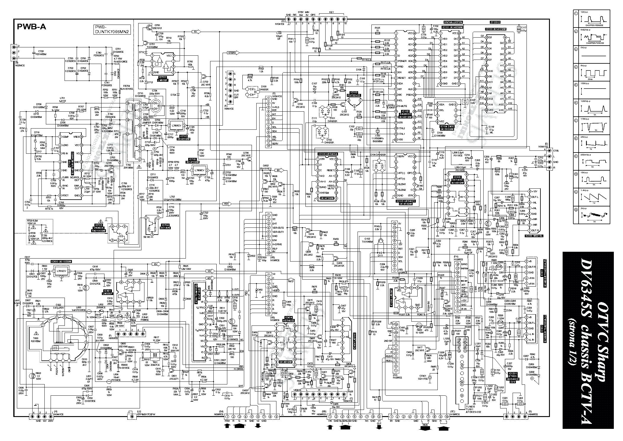 Sharp 70ds 15s схема 663