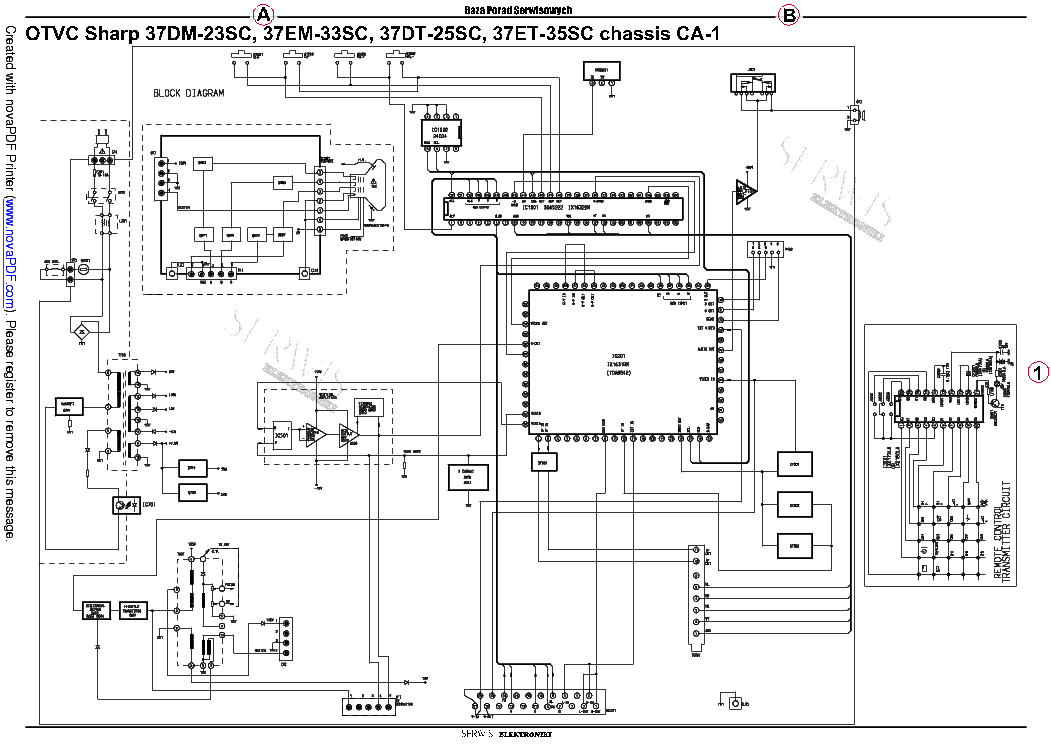 Diagram  Sharp 54gt 25sc Television Schematic Diagram Hd Version