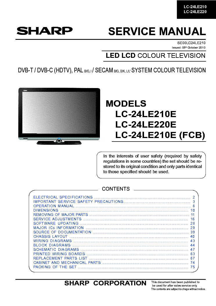 sharp lc 32sb24u sm service manual download schematics eeprom rh elektrotanya com