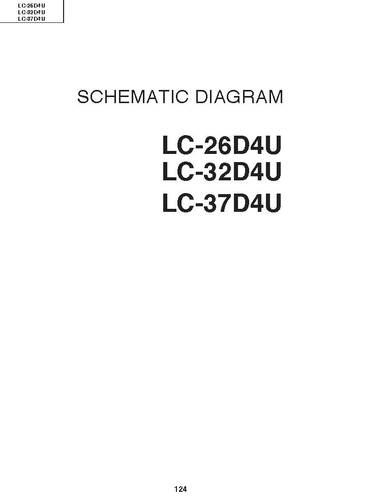sharp lc 26d4u lc 32d4u lc 37d4u lcd tv service manual