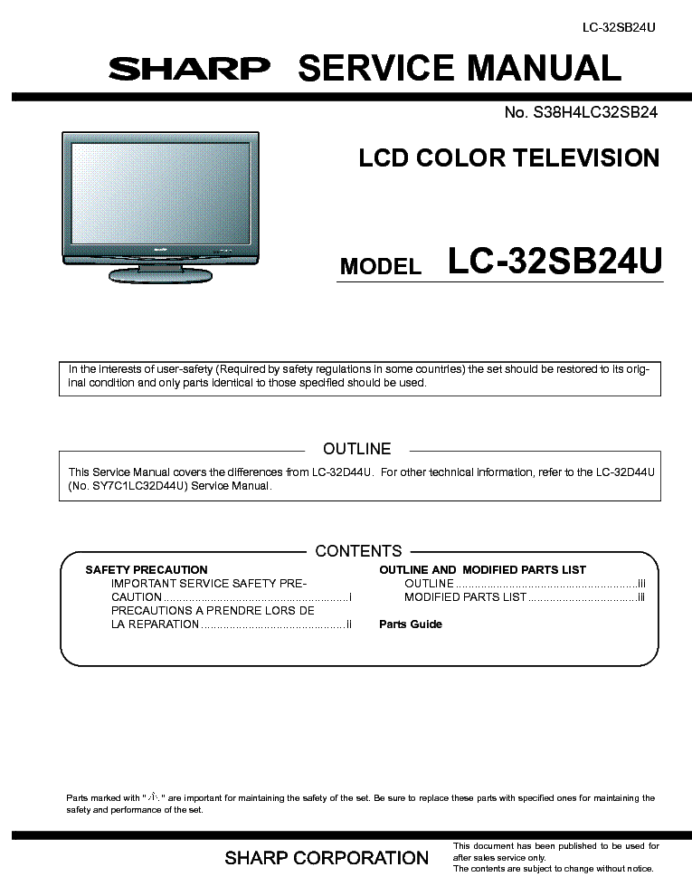 sharp lc 32sb24u sm service manual download schematics eeprom rh elektrotanya com  sharp lc32sb24u service manual