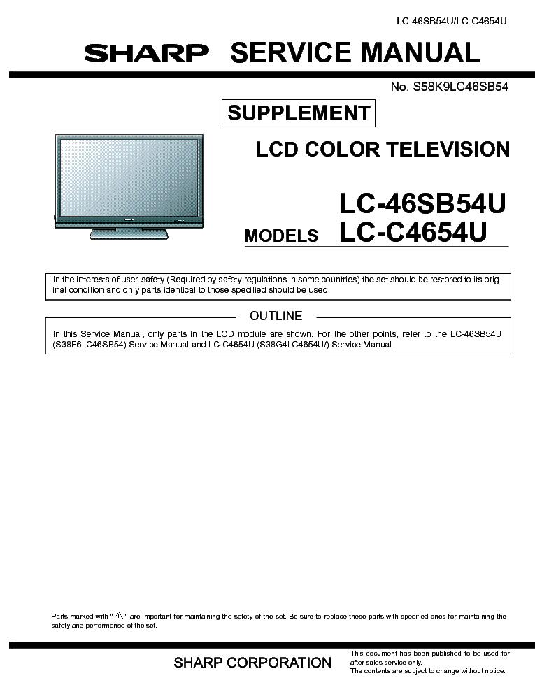 sharp tv manual lc 46sb54u open source user manual u2022 rh dramatic varieties com  sharp lc46sb54u service manual