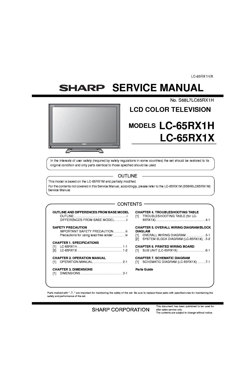 сервисная инструкция sharp lc-32d44