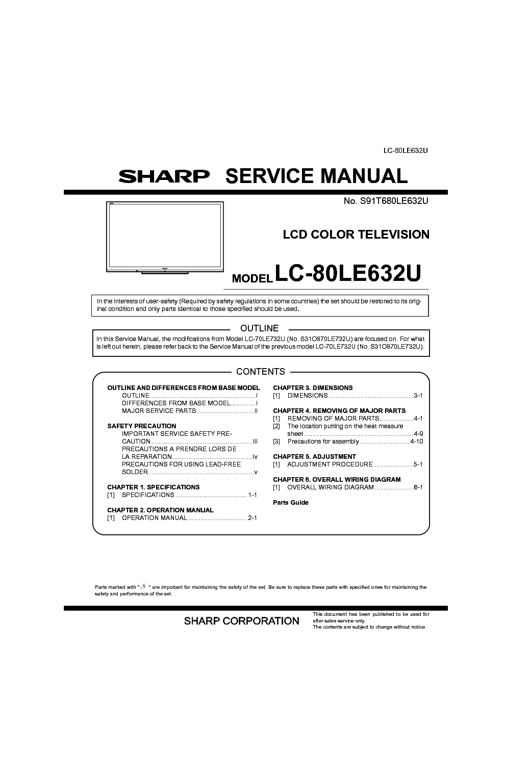 sharp lc 80le632u service manual download schematics eeprom rh elektrotanya com Sharp LC-80LE632U Vesa sharp aquos lc-80le632u manual