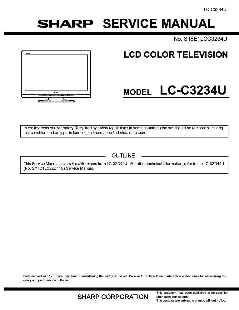 Lc c3234u sharp Manual