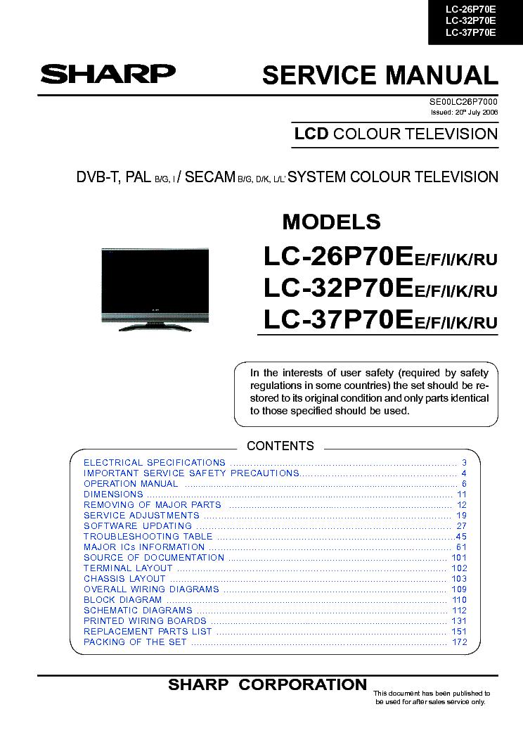 Sharp Lc-22Le240rux Инструкция
