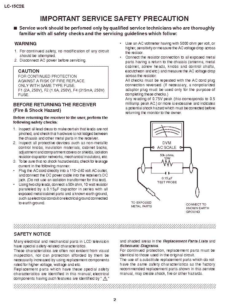 Sharp Lc 15c2e Service Manual Download  Schematics  Eeprom  Repair Info For Electronics Experts