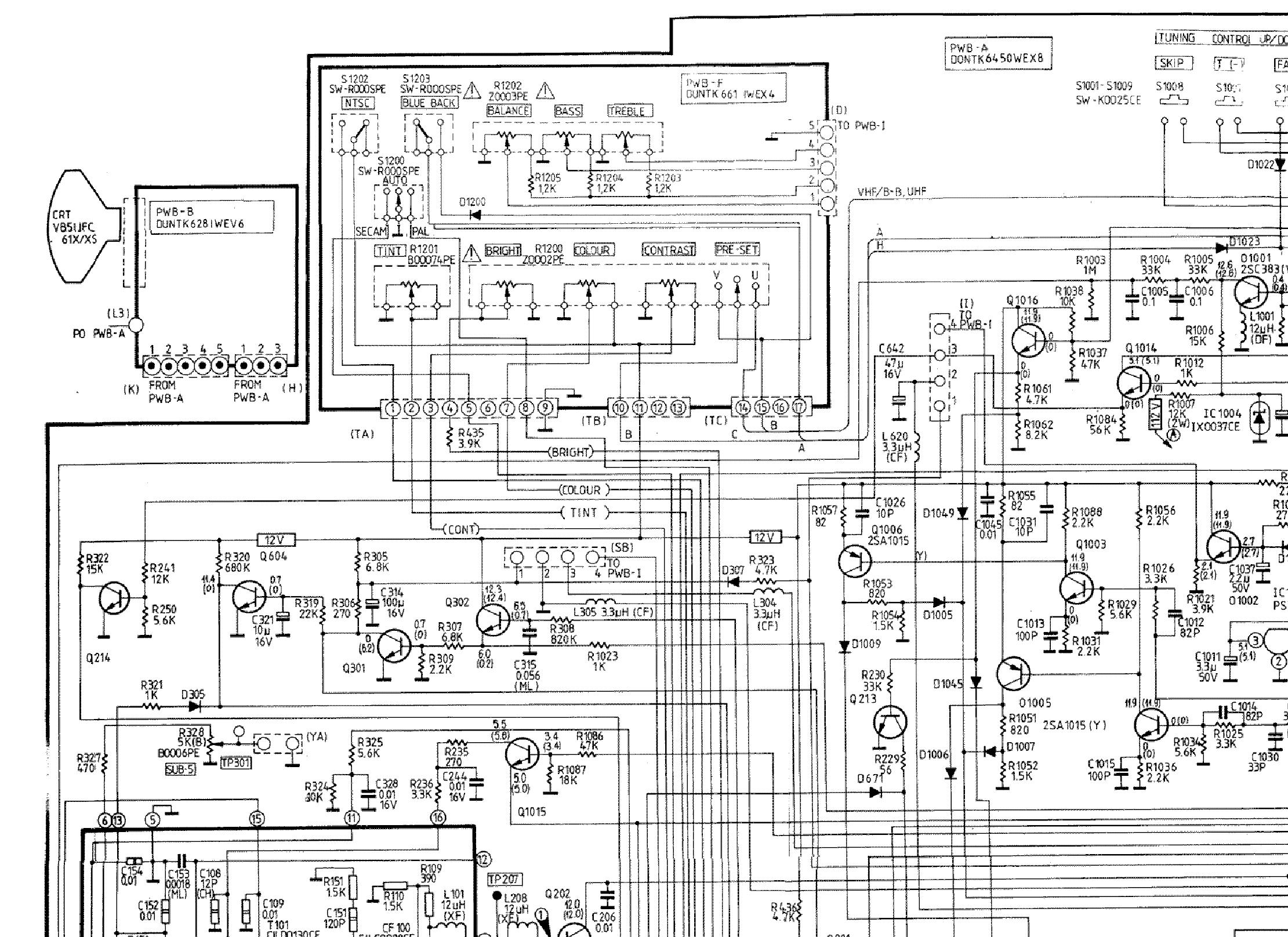 sharp sv 2142scn tv d service manual download  schematics  eeprom  repair info for electronics