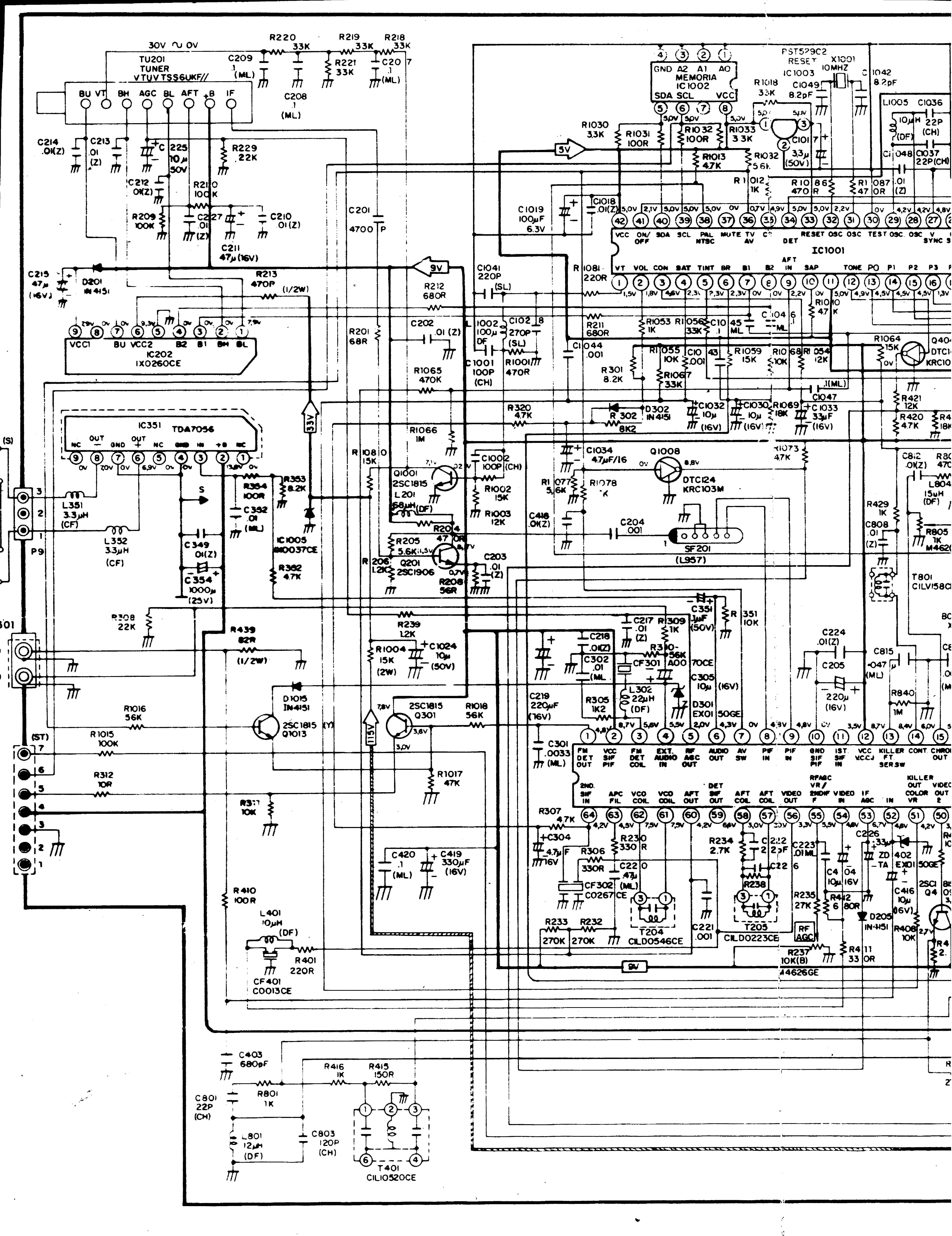 Принципиальная схема sharp 20r sc