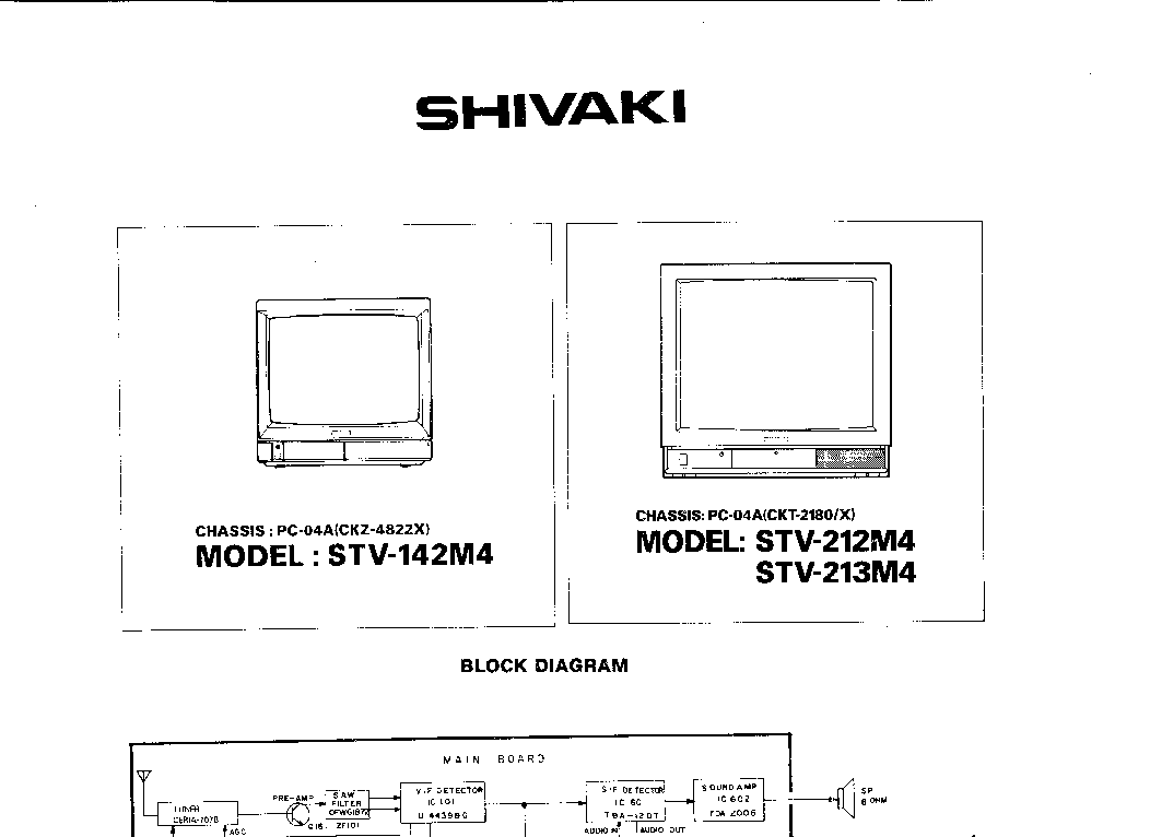 схема shivaki tv2189