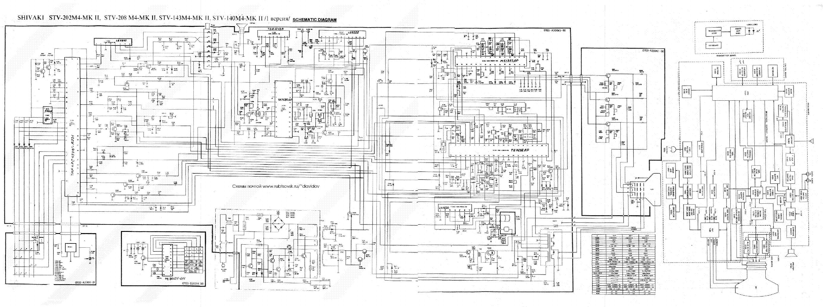 Shivaki Stv202m4 Sch Service Manual Download Schematics Eeprom M4 Schematic 1st Page