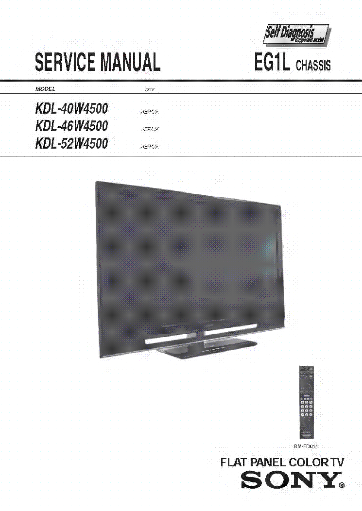 sony bravia kdl 40w4500 chassis eg1l service manual download rh elektrotanya com service manual sony ta-f707es pdf service manual sony tv