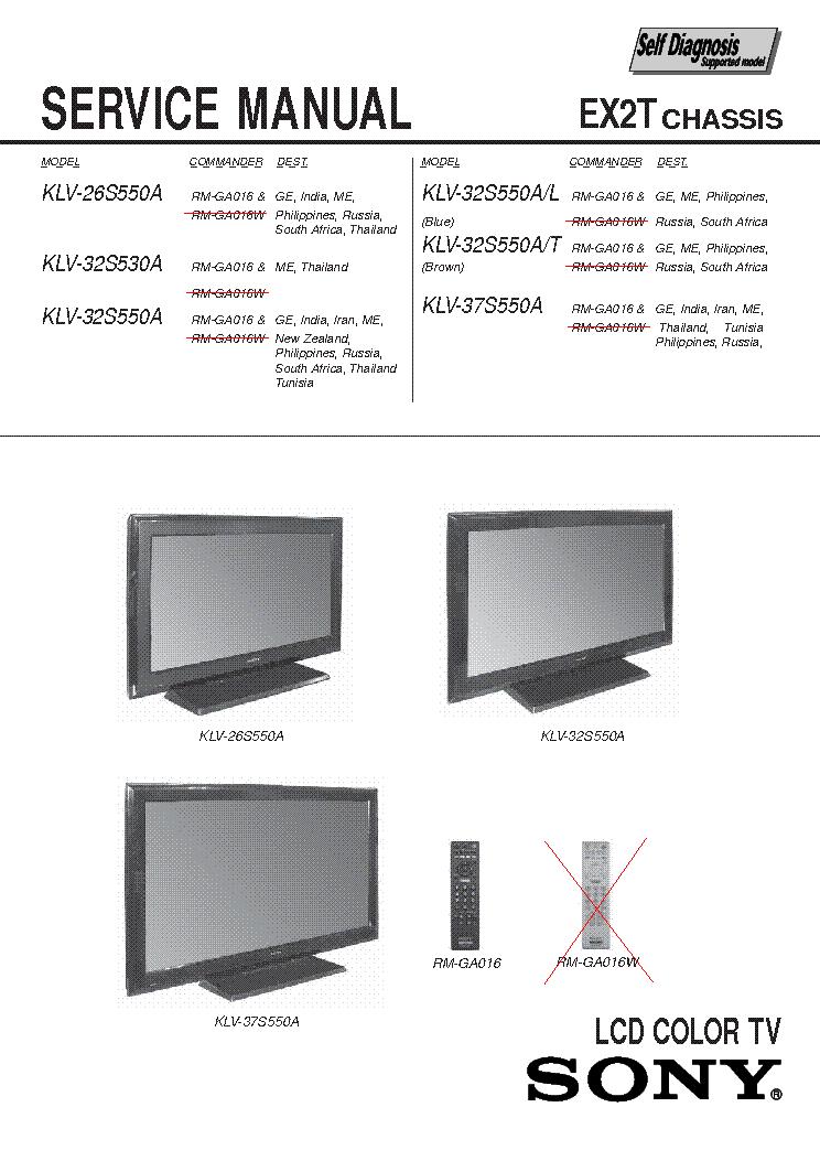 sony bravia service manual pdf