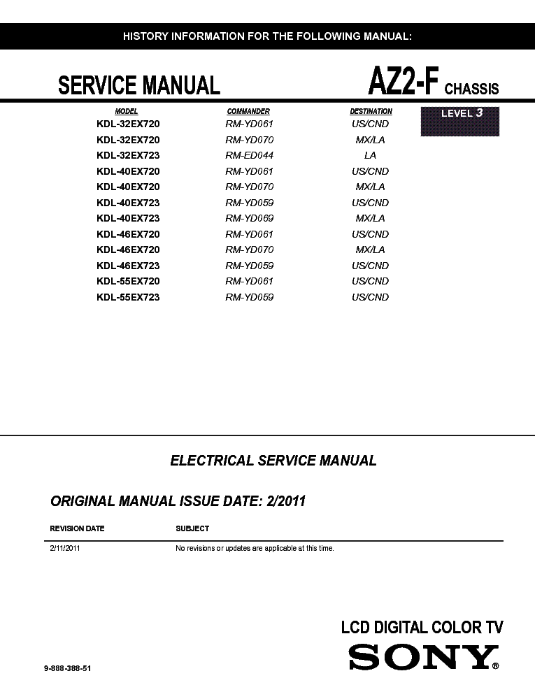 sony kdl 32 40 46 55ex720 723 chassis az2 f service manual download rh elektrotanya com Sony BRAVIA XBR Series Sony BRAVIA Back Panel