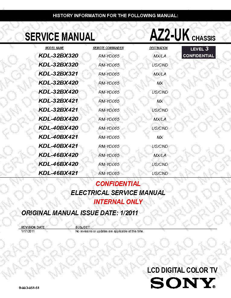 sony kdl 32bx320 321 420 421 40 46bx420 421 chassis az2 uk service rh elektrotanya com