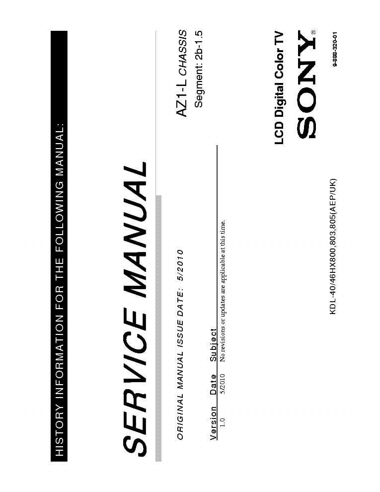 SONY KDL-40-46HX800-803-805