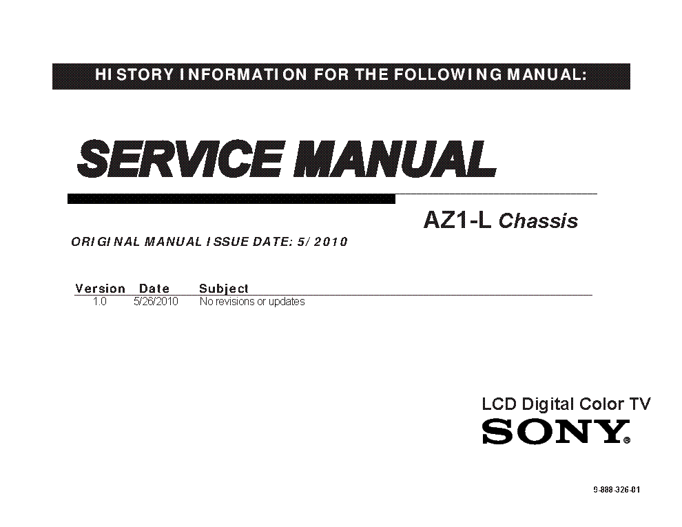 sony kdl 40hx800 kdl 46hx800 kdl 55hx800 chassis az1 l 9 888 326 01 rh elektrotanya com sony bravia 55hx800 manual sony bravia kdl-55hx800 manual