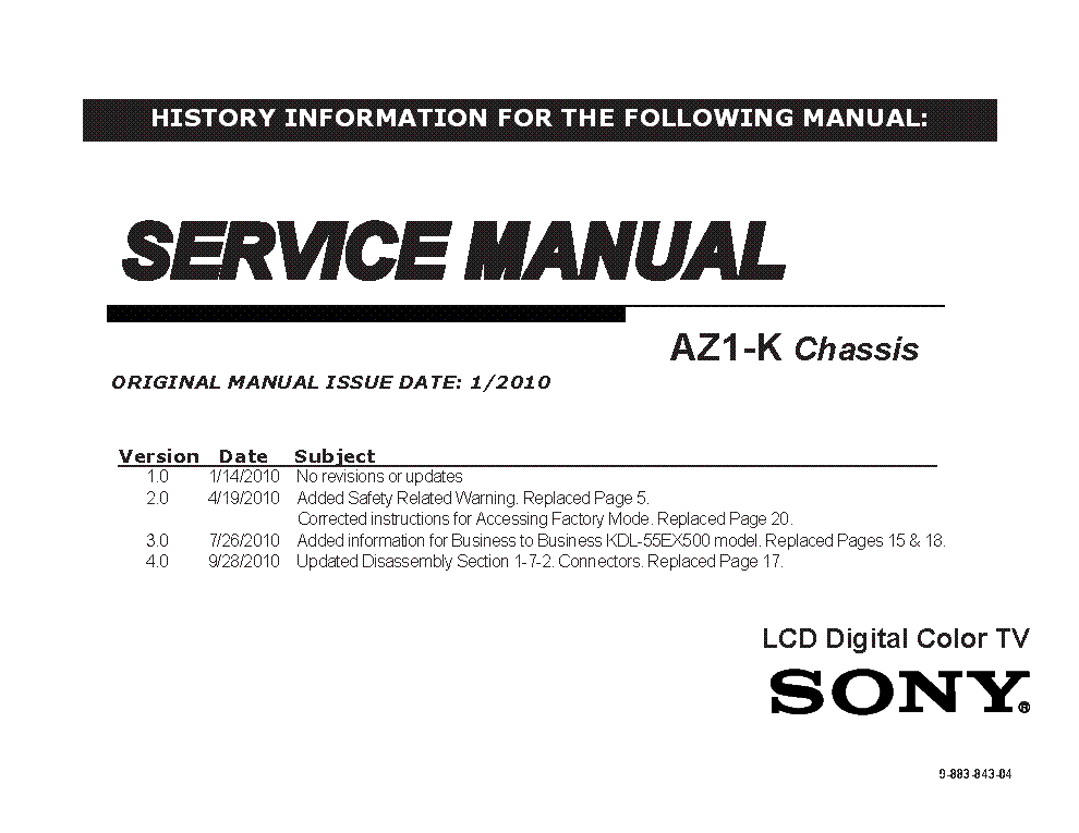 Sony Kv 29xtr20 Kv 2940an Chassis Gp 1a Sch Service Manual Download Schematics Eeprom Repair Info For Electronics Experts