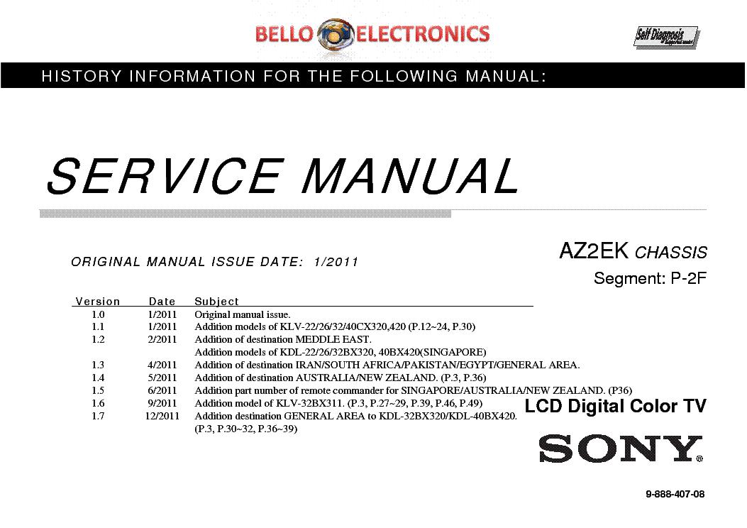 sony klv 22bx320 klv 26bx320 klv 32bx320 klv 32bx311 klv 22cx320 klv rh elektrotanya com sony bravia service menu manual sony lcd tv service manual pdf