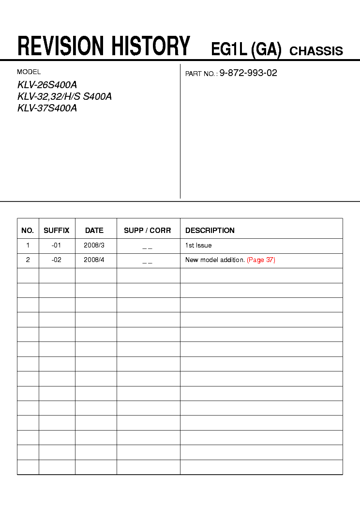 sony klv 26s400a klv 32s400a klv 37s400a chassis eg1l ga exploded rh elektrotanya com Sony DVD Recorder User Manual sony klv-32s400a pdf service manual free downloading