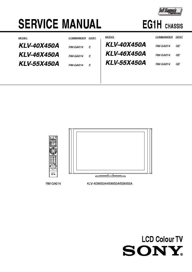 sony klv 40x450a klv 46x450a klv 55x450a chassis eg1h block diagram rh elektrotanya com