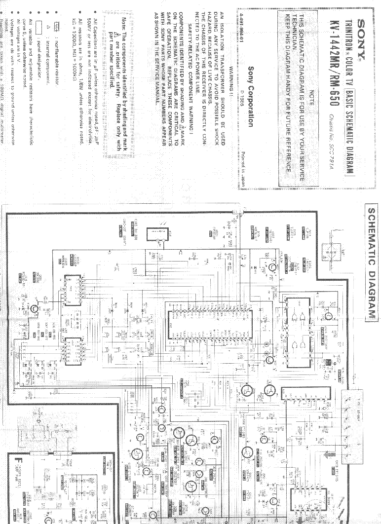 Sony Kv 1442mr Service Manual Download Schematics Eeprom Repair Isolation Transformer Schematic Diagram 1st Page