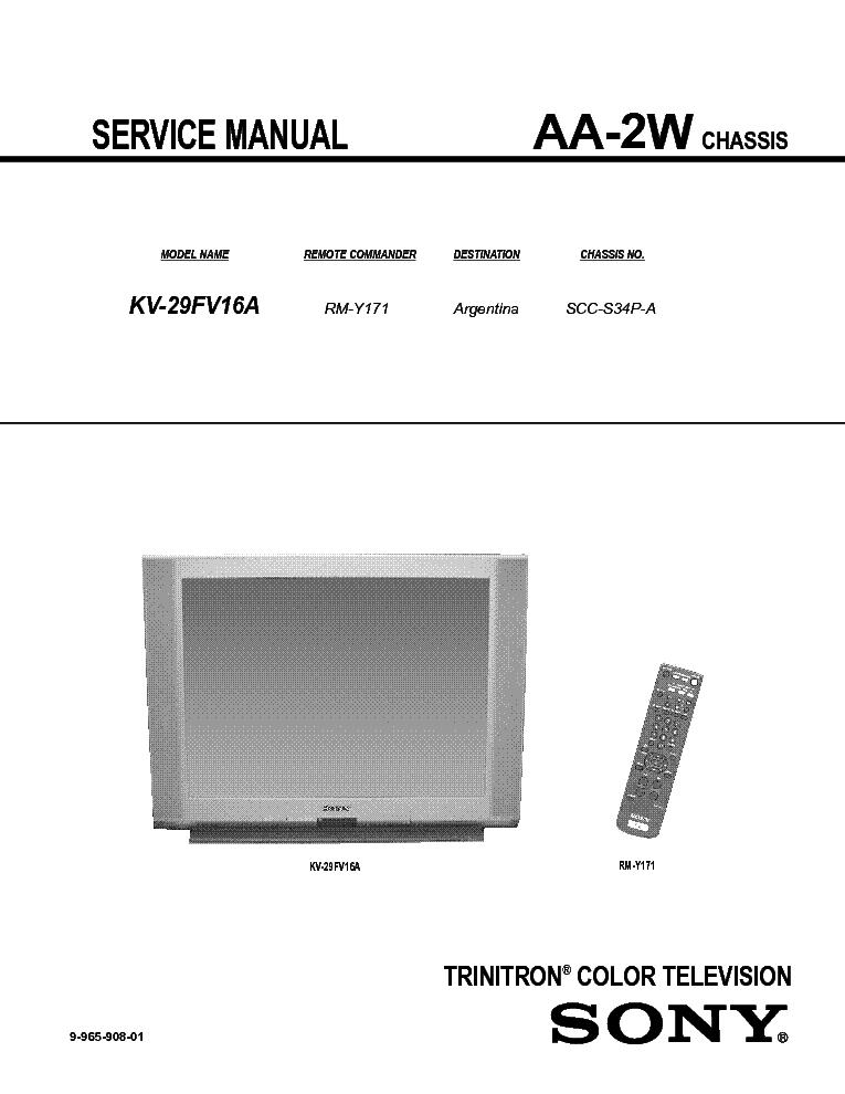 SONY KV-29FV16A CH AA-2W