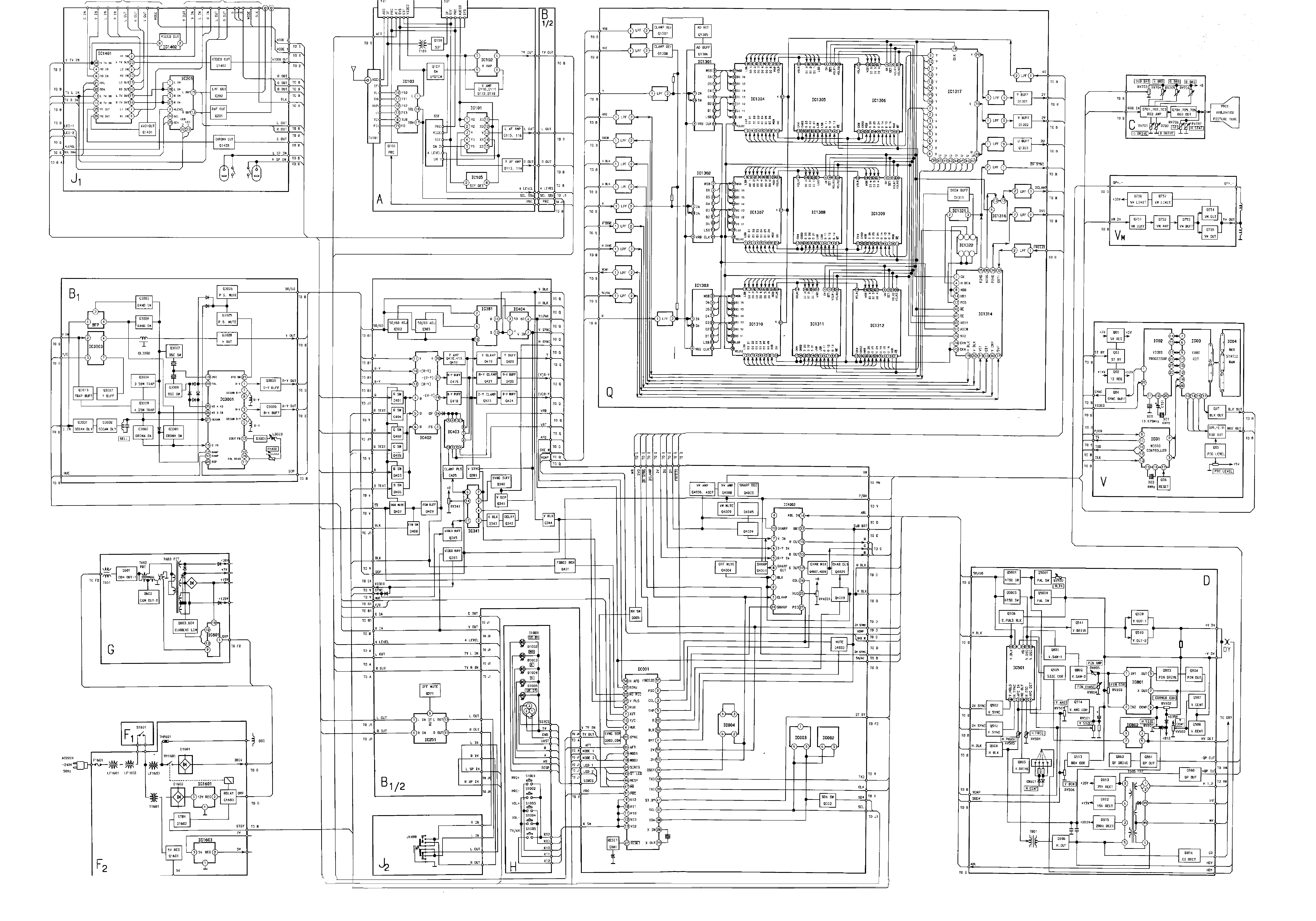 sony kdf-46e2000 wiring diagram