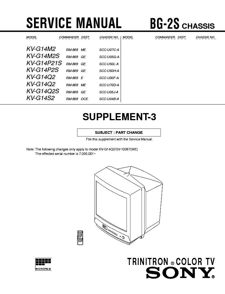 SONY KV-G14M2 KV-G14P2
