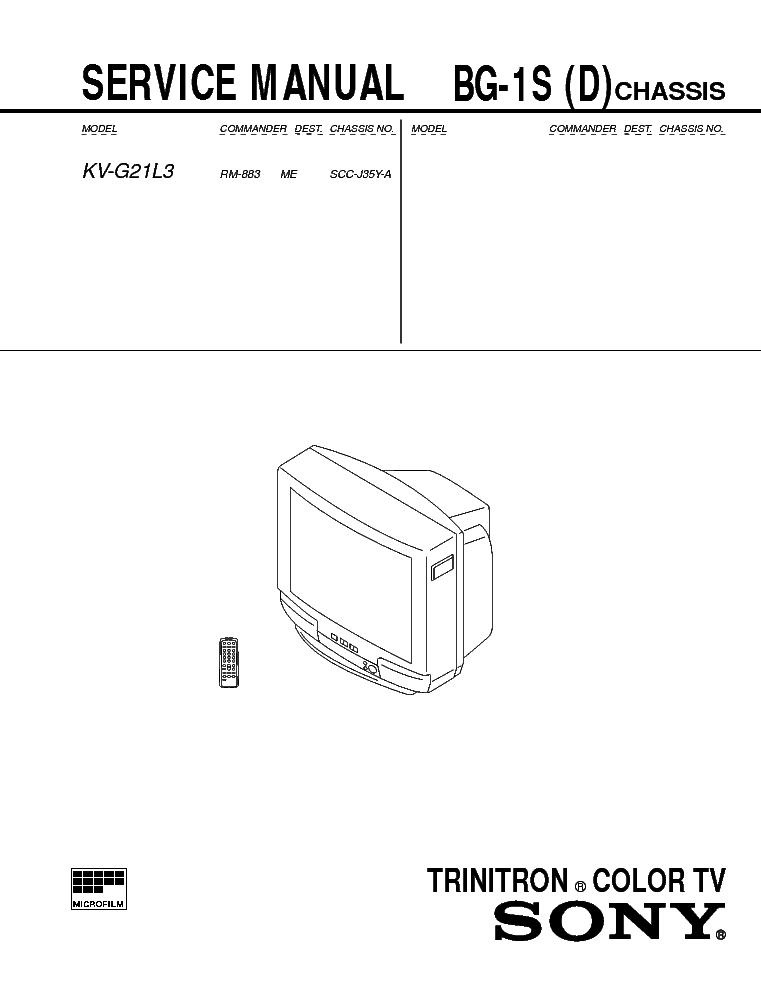 SONY KV-G21L3